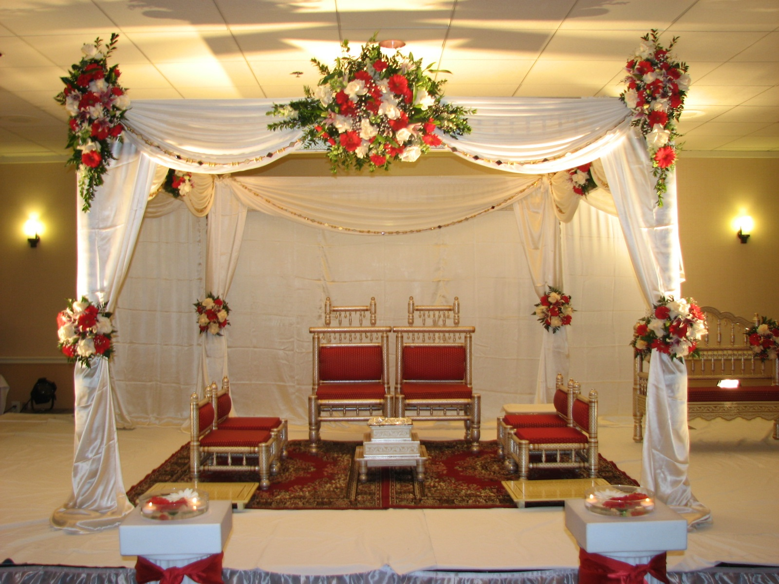 Indian wedding decorations tampa tampa bay wedding florist Simple flower decoration ideas